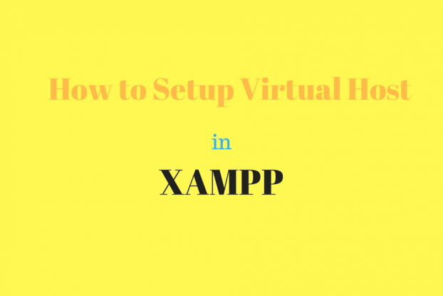 How to setup virtual host in xampp