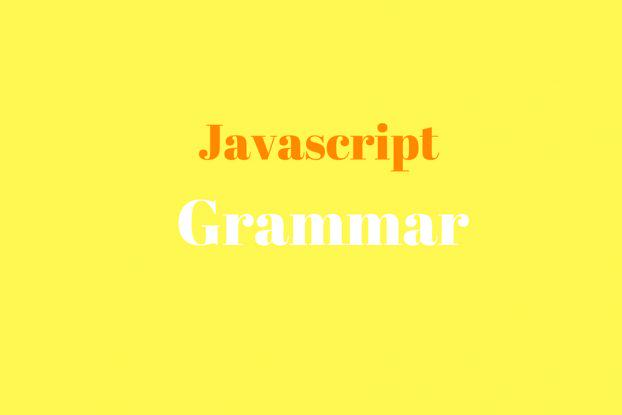 javascript good parts: grammar
